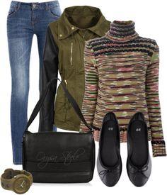 """""""Khaki Jacket"""" by orysa on Polyvore"""