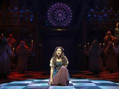 Ciara Renee as Esmeralda and the company of The Hunchback of Notre Dame. Photo by Matthew Murphy