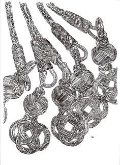 Quaste aus Silberkordeln