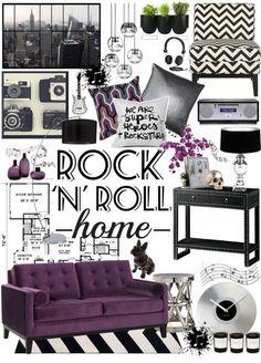 Gothic Designed Living Room Rockabilly Decor Glam Rock N Roll