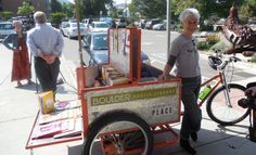 Book bikes! Promoting public libraries. | Photo by Jenny Shank - Boulder Public Library's Book Bike #read