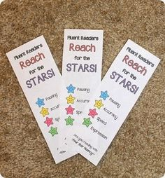 Free fluency bookmarks-- finally, something that teaches more than just speed reading!
