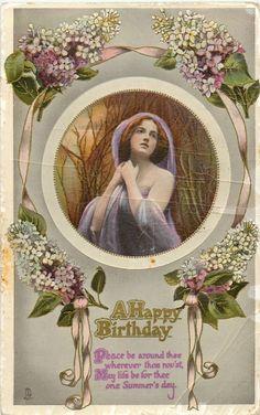 BIRTHDAY SERIES lilac, woman sds