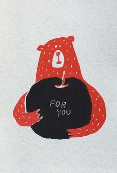ヘアサロンのかわいい熊のバースデーカード-アルニコデザイン
