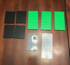 Lot of 6 x 12 Light Green Plates Lego Castle City New Condition !!
