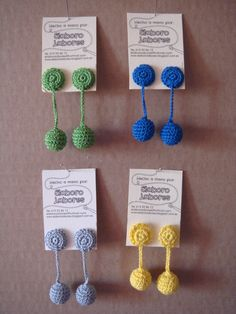 Pendientes a ganchillo, Crochet, Accesorios