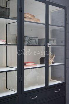 Apothekerskast Ferro 4-7021   1-1512-032   Old BASICS Bookshelves, Locker Storage, Sewing Projects, Furniture, Home Decor, Bookcases, Decoration Home, Room Decor, Book Shelves