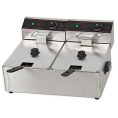 5000w 12 Liter Electric Countertop Deep Fryer Dual Tank 6 Commercial Restaurant ** Visit the affiliate link Amazon.com on image for more details.