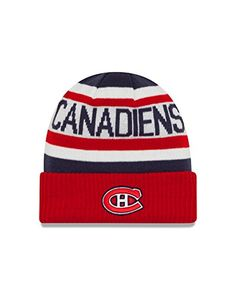 a5343188 NHL Montreal Canadiens Biggest Fan 2.0 Cuff Knit Beanie, One Size, Red  Montreal Canadiens