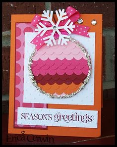 Vibrant, delightful colour palette. #cards #card_making #scrapbooking #Christmas