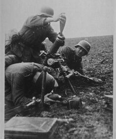 German mortar crew.  Neufchatel . France 26-3-41.