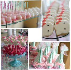 Hello Kitty Party - white cake pops w pink heart candies for bows Hello Kitty Theme Party, Hello Kitty Cake, Hello Kitty Birthday, Girl Birthday, Birthday Parties, Birthday Ideas, Breast Cancer Party, Chocolate Dipped Marshmallows, Wedding Candy