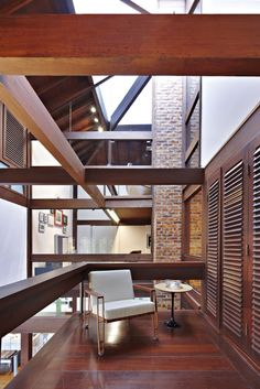 Chair deck Designs   Ideas : Cool Balcony Deck Designs With Glass And Wooden Beams Chair ...