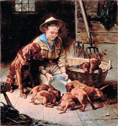 It's a Dog's Life: Norman Rockwell Paints Man's Best Friend. A Saturday Evening Post Cover.