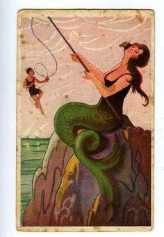 Fishing for Men vintage postcard