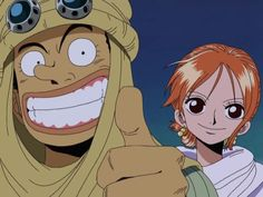 Nami and Usopp! Alabasta