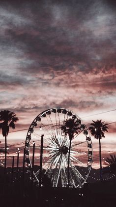 Ferris wheel amusement park carousel attractions wallpaper background palms Source by Tumblr Backgrounds, Cute Backgrounds, Aesthetic Backgrounds, Tumblr Wallpaper, Aesthetic Iphone Wallpaper, Screen Wallpaper, Aesthetic Wallpapers, Cute Wallpapers, Phone Wallpapers Tumblr