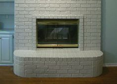 Fireplace Makeover Part 2: Painting Brass Fireplace Doors and ...