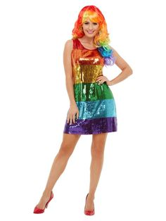 Rainbow Super Hero Cape Mask Gay Pride Adult Mens Ladies Fancy Dress Accessory