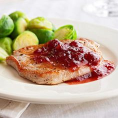 In addition to pork, you can use the tangy orange-and-cranberry sauce side dish recipe over grilled chicken or fish too.