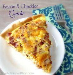 The Easiest Quiche Recipe Ever Plus 4 Variations! PERFECT FOR CHRISTMAS MORNING! Would be good with leftover ham