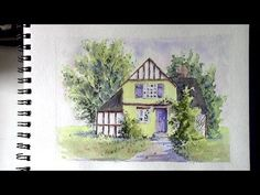 Line and Wash watercolor painting #10 - Vlog 20 - YouTube
