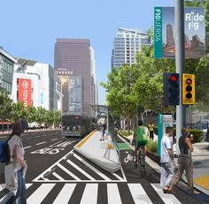 Figueroa Plan Pits Bikes Against Cars - LA Downtown News Online