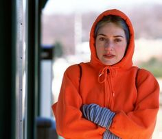 Kate Winslet as Clementine Kruczynski. Eternal Sunshine of the Spotless Mind (2004) Blue hair and orange hoodie.