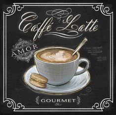 "Caffeé Latte   (Good Morning! - ""Art In Motion"")"