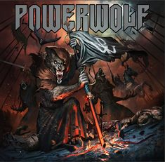 Another illustration I made for the new Powerwolf album - The Sacrament of Sin Heavy Metal Rock, Power Metal, Forgive, Metal Bands, Werewolf, Rock And Roll, Creepy, Digital Art, Groupes
