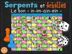 "Le son ""in"" (""im"", ""ain"", ""ein"") - Serpents et échelles French Teacher, Teaching French, French Classroom, French Resources, Viera, Sons, Serpents, Conscience, Images"