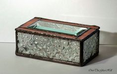 Tiffany Stained Glass Jewelry Box With Mirror by OverTheGlassHill