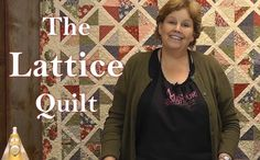 "I need this quilt! Jenny Doan shows us another quick and easy quilt using charm pack called the ""Lattice Quilt"""