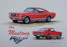 Ford Mustang artwork by Lionel Jeans