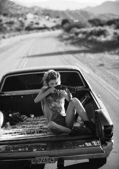 reckless | rebel | road trip | point | shoot | pistol | firearm | gun | shooting | drive | black & white | delinquent | ute