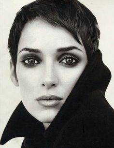 Winona's pixie, and awesome smokey eyes