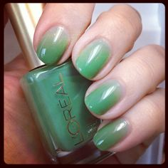 L'oreal Creme de Mint Syrup Mani - Apparently jelly polishes are something that need to be acquired.