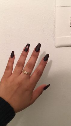 "Matte Coffin Nails in ""Wicked"" by Essie"