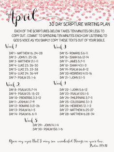 Sweet Blessings: scripture writing plan A simple devotion to keep you in the Word daily.  She makes a new scripture writing plan each month.  The verses have been just the Word I needed, just at the moment I need them - God is amazing in how He works through people.