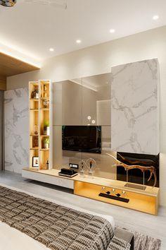 Room Design Bedroom, Wardrobe Design Bedroom, Apartment Bedroom Decor, Bedroom Furniture Design, Home Room Design, Living Room Designs, Tv Cabinet Design, Tv Unit Design, Door Design Interior