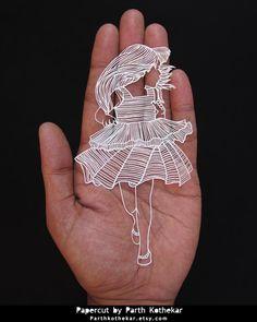 Miniature Papercut - Papercutting - Paper art by ParthKothekar.deviantart.com on @DeviantArt