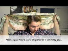 Retro Inspired Headscarf tutorial - YouTube