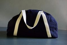 Overnighter Bag in Warsa Linen | The Purl Bee