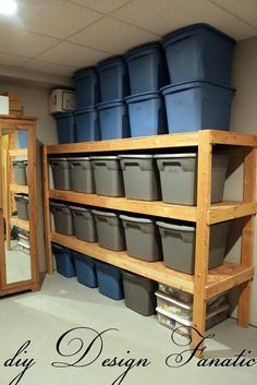 love this basement organization | best from Pinterest Wish I had a basement to do this in
