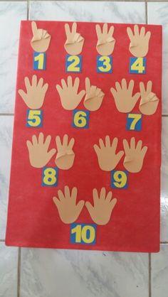 Vamos contar Preschool Boards, Preschool Classroom, Art Classroom, Preschool Crafts, Creative Activities For Kids, Toddler Learning Activities, Preschool Activities, Diy Classroom Decorations, School Decorations