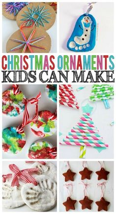 Christmas Ornaments Kids Can Make - the best kind that make such fun keepsakes! Christmas Ornaments Kids Can Make - the best kind that make such fun keepsakes! Kids Christmas Ornaments, Preschool Christmas, Noel Christmas, Christmas Activities, Christmas Crafts For Kids, Homemade Christmas, Christmas Projects, Winter Christmas, Holiday Crafts