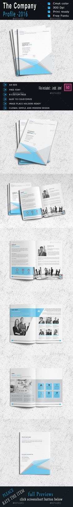 The Company Profile Brochure Template InDesign INDD. Download here: https://graphicriver.net/item/the-company-profile/16957583?ref=ksioks