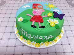 Bolo-Decorado-Peppa-Pig-Mariana/Peppa Pig cake