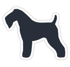 Kerry Blue Terrier Silhouette Waterproof Die-Cut Sticker