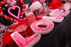 candy buffet wedding ideas pink and red